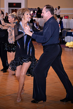 Dan Lawson is thrilled to be back to competitive ballroom dancing with his wife, Cathy.