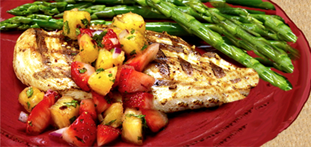 Grilled Chicken with Strawberry and Pineapple Salsa - Virtua