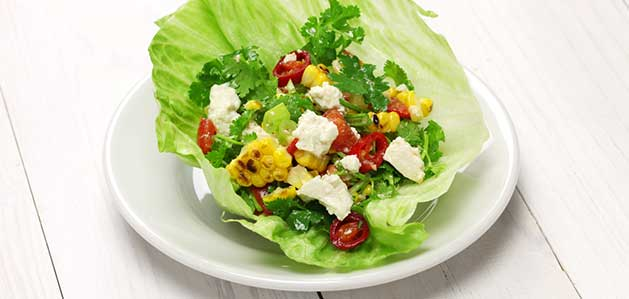 Healthy Vegetarian Lettuce Wrap Recipe - Virtua