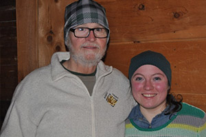 Richard Fowler and daughter on a ski trip in February 2015.