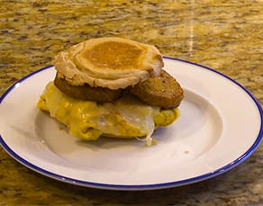 Healthy Recipe - Sausage Egg and Cheese Breakfast Sandwich