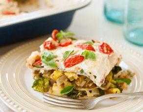 Healthy Layered Pasta Veggie Bake Recipe