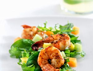 heart healthy recipe shrimp salad