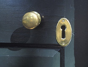 the beauty of a brass door knob